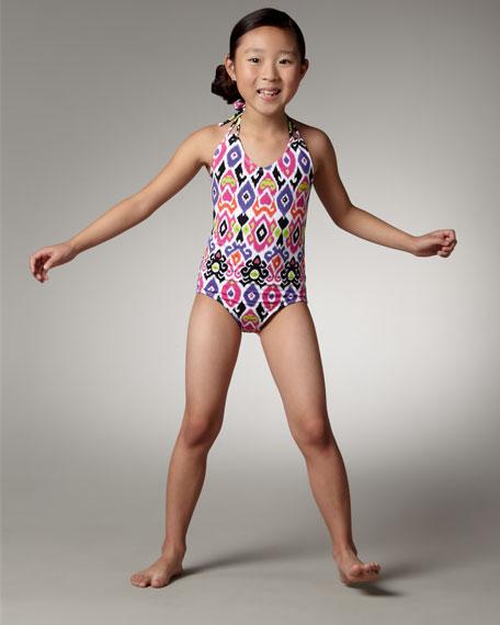 Ikat-Print Swimsuit, Sizes S-XL