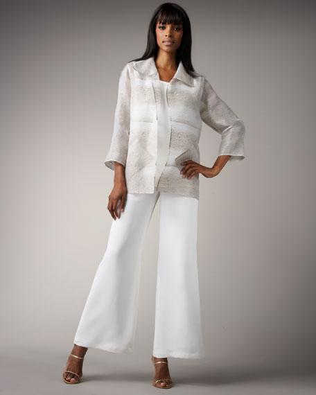 Easy-Fit Organza Shirt, Women's