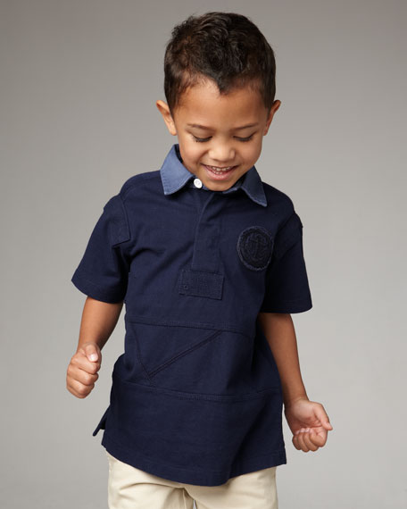 Short-Sleeve Rugby Shirt, Sizes 2T-4T