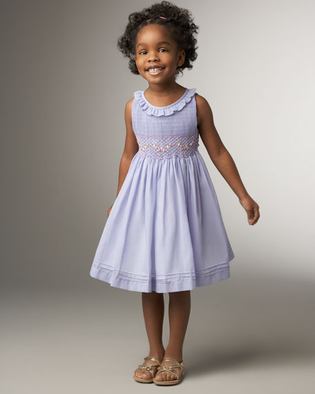 Ruffle-Neck Dress, Sizes 2-4