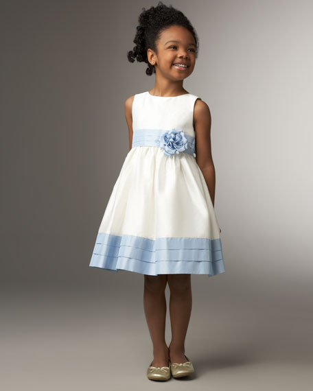 Two-Tone Tiered Dress, Sizes 2-4