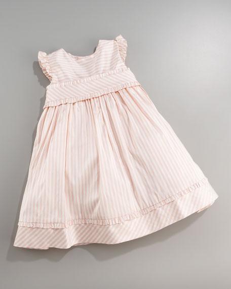 Striped Silk Dress, 3-9 Months
