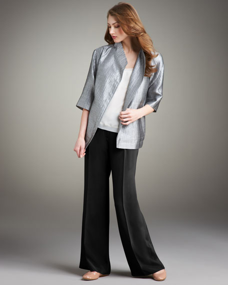 Shawl-Collar Luster Jacket, Women's