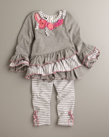 Multi-Ruffle Tunic, Sizes 2T-4T