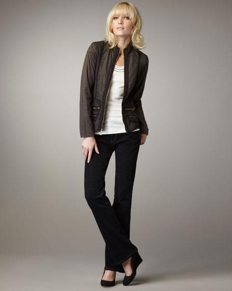 Stretch Poplin Jacket, Women's