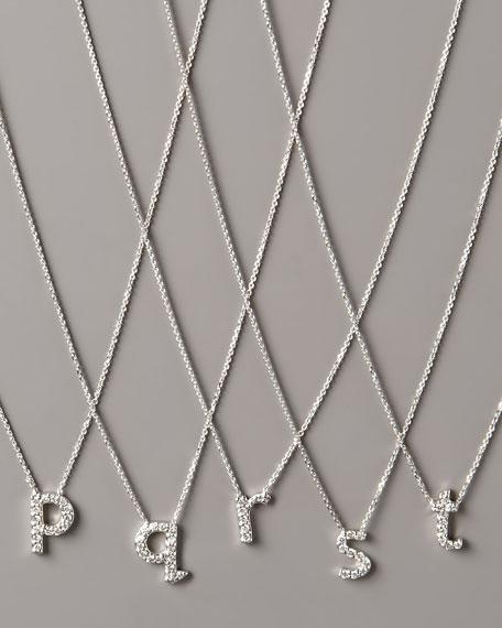 KC Designs Diamond Letter Necklace, P