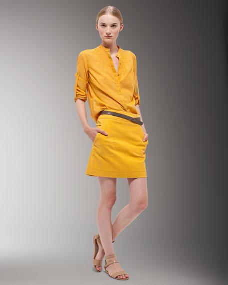 Knit A-Line Skirt