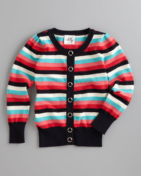 Sadie Striped Knit Cardigan, Sizes 2-7