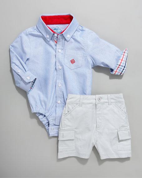 The Shirtzie Bodysuit, Blue