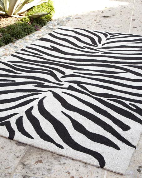 "Zoey Zebra-Print Rug, 3'6"" x 5'6"""