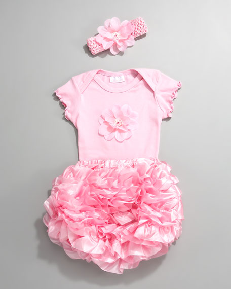 Petunias Tee with Diaper Cover, 3-9 Months