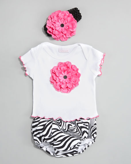 Zebra Brites Tee and Diaper Cover, 12-24 Months