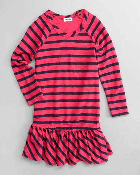 Venice Striped Ruffle Dress, Sizes 2T-4T
