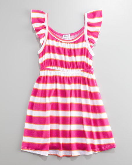 Sugar Stripes Scarf-Striped Dress, Sizes 4-6X