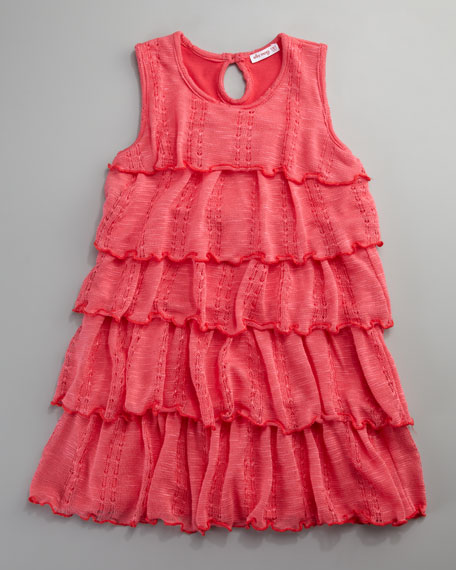Layered Lace-Knit Dress, Sizes 4-6X
