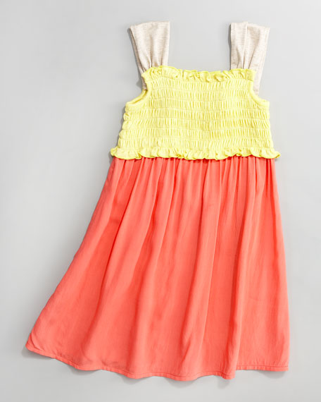 Carnation Colorblock Smocked Dress, 2T-4T