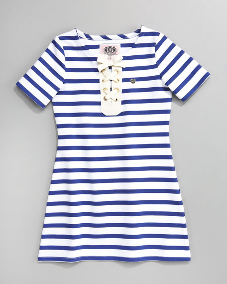 Santa Monica Striped Knit Dress, Sizes 2-6