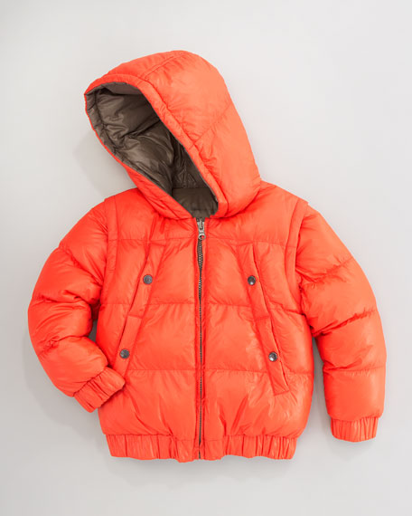Reversible/Convertible Hooded Puffer Jacket, Sizes 2-5