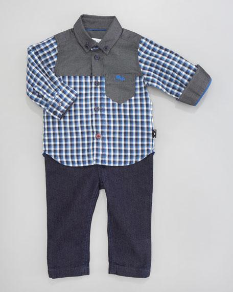 Button-Down Check Shirt