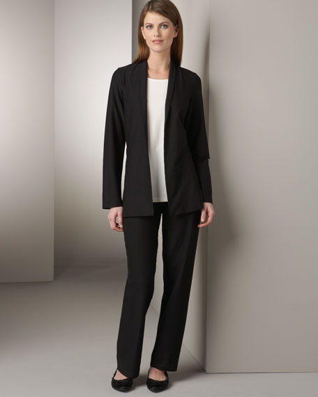 Stretch-Crepe Pants, Petite