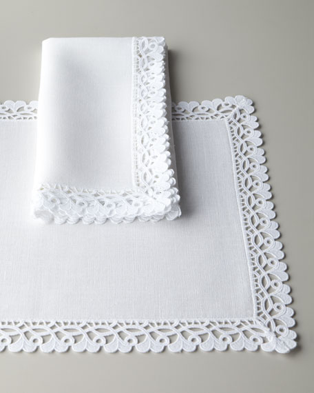 Four Ricamo Dinner Napkins
