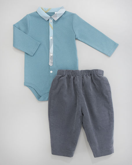 Check-Trim Playsuit, 3-18 Months