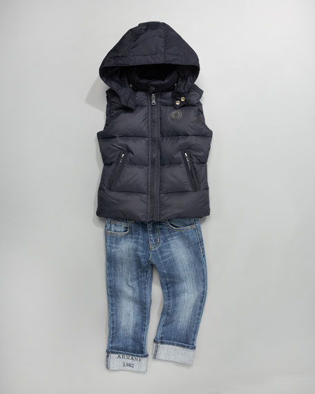 Puffer Vest With Back Logo