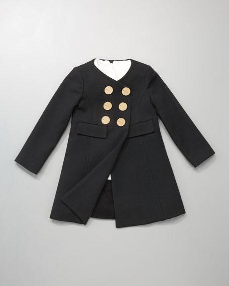 Ecru Hallie Bow-Neck Dress, Sizes 2-7