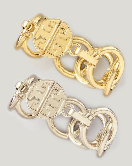 Rings Bracelet, Silvertone