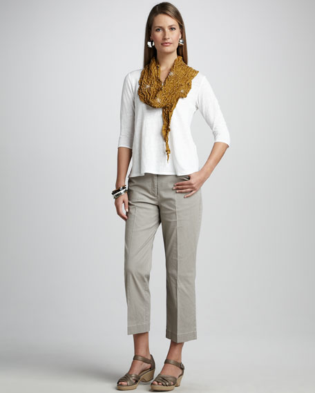 Cropped Straight-Leg Trousers, Women's