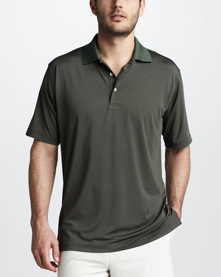 Stretch Jersey Polo, Midnight