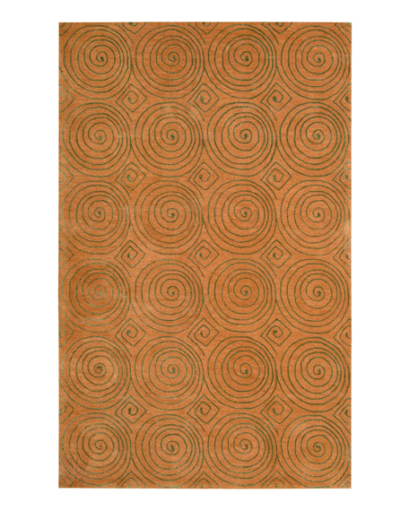 "Mystical Swirls Rug, 7'6"" x 9'6"""