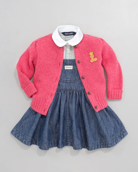 Preppy Cable-Knit Cardigan