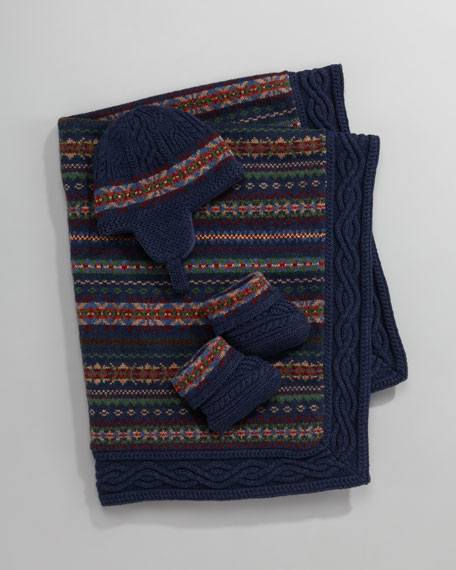 Fair Isle Hat and Bootie Set