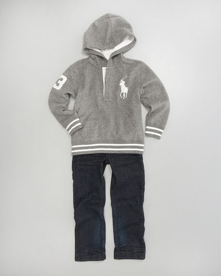 Rugby Hoodie, Sizes 8-10