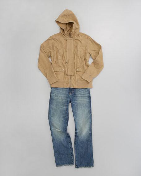 Zip-Front Motorcycle Jacket, Sizes 2-7