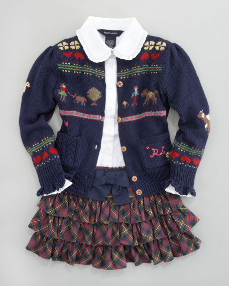 Sampler Embroidered Cardigan