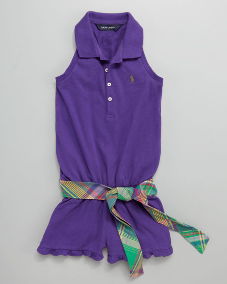 Little Polo Jumpsuit, Sizes 4-6X