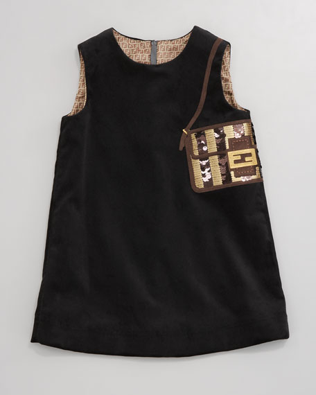 Velvet Baguette Purse Dress, Sizes 2-5
