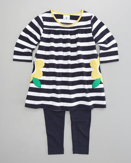 Taxi Stripe Tunic & Leggings Set, Sizes 2T-3T
