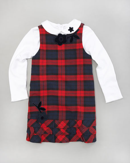 Plaid Dress and Tee Set, Sizes 4-6X