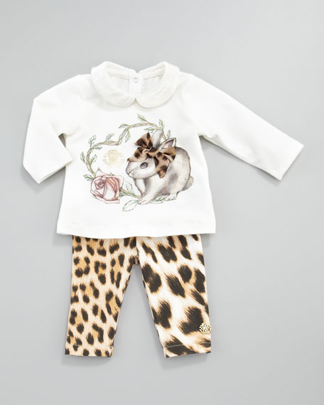 Leopard-Print Leggings, 3-9 Months