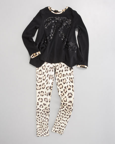 Animal-Print Leggings, Sizes 2-6
