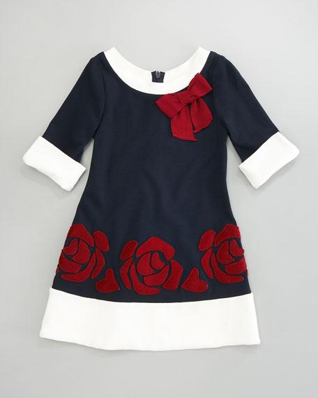 Floral Applique Dress, Sizes 2-6