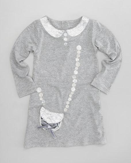 Sequin Collar Knit Dress, Sizes 2-4