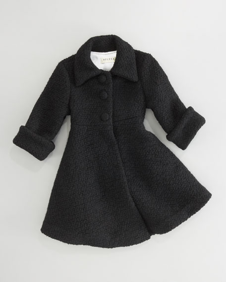 Boucle Dress Coat, Sizes 2-3T