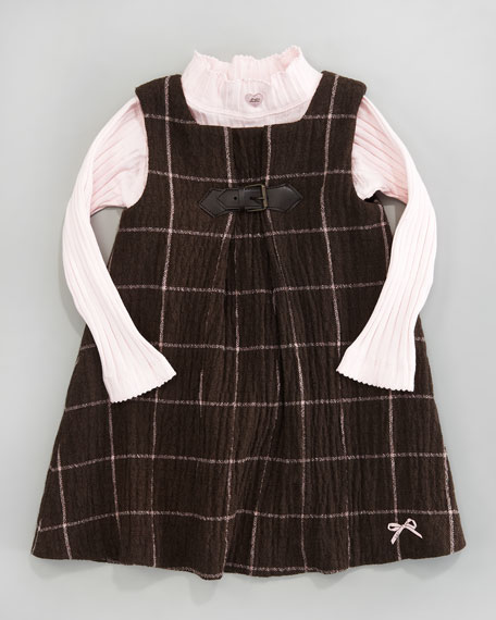 La Boucle Plaid Shift Dress, Sizes 2-6