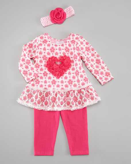 Mon Cherry Swing Top with Leggings, 3-9 Months
