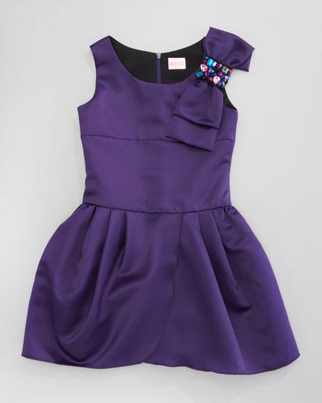 Satin Drop-Waist Dress, Sizes 2-6