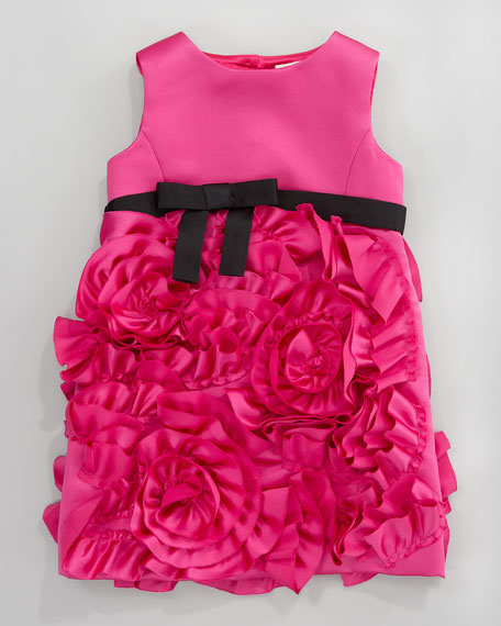 Rosette Party Dress, Sizes 2-6